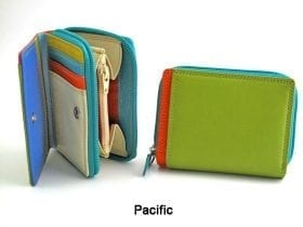 Multi-coloured Small Zip Purse style 7-113