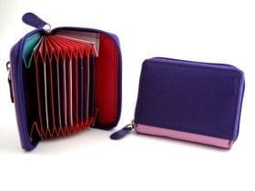RFID Multi-colour Concertina Card Case