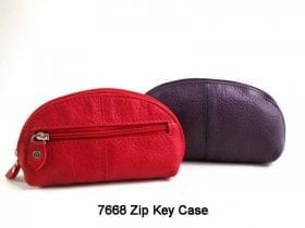 Cowhide Zip-round Key Case - 7668