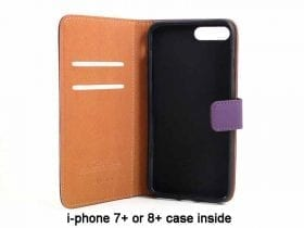 Leather Case for i-phone 7+ or 8+