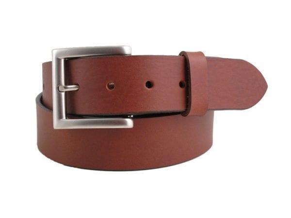 "Men's or Women's 1½"" Genuine Leather Belt, Handmade in Britain"
