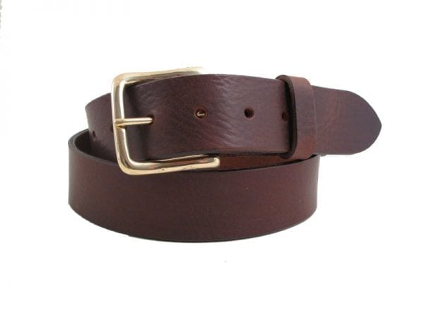 "Men's or Women's 1½"" Real Leather Belt, Handmade in UK"