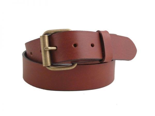 "Men's or Women's 1½"" Solid Leather Belt, Handmade in UK"