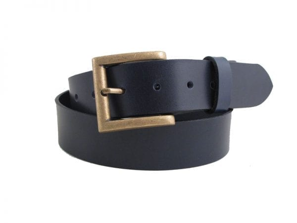 "Men's or Women's 1½"" Genuine Leather Belt, Handmade in UK"
